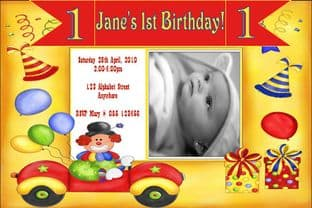 Personalised Birthday Photo Invitations - Girl Design 6