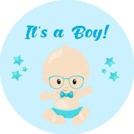 Personalised Blue Baby Boy Sticker