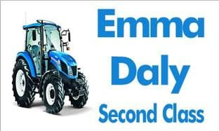 Personalised Blue New Holland Tractor School Book Stickers