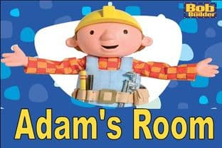 Personalised Bob the Builder Door Plaque