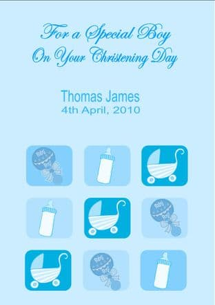 Personalised Boy Christening Card Design 4