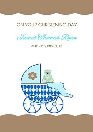 Personalised Boy Christening Card Design 5