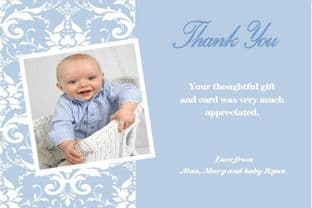 Personalised Boy Christening Thank You Cards Design 7