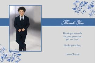 Personalised Boy Communion OR Confirmation Photo Thank You Card Design 3