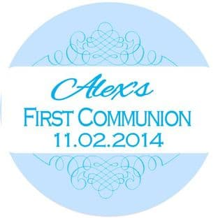 Personalised Boy Communion Stickers Design 5