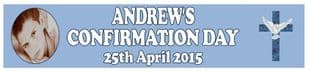 Personalised Boy Confirmation Banner Design 3