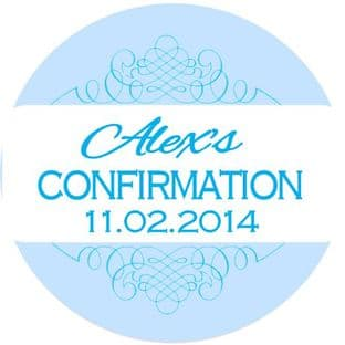 Personalised Boy Confirmation Stickers Design 4
