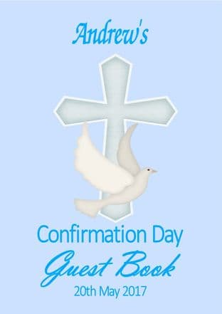 Personalised Boy or Girl Confirmation Guest Book