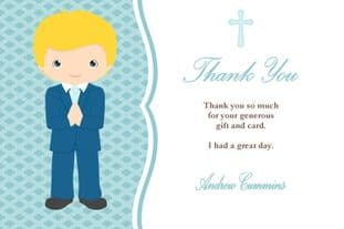 Personalised Boy Thank You Card Design 1