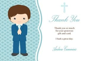 Personalised Boy Thank You Cards Design 2