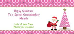 Personalised Christmas Gift Wallet for Money, Vouchers, Concert Tickets etc. Design 3