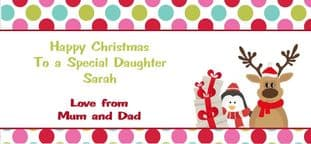 Personalised Christmas Gift Wallet for Money, Vouchers, Concert Tickets etc. Design 5