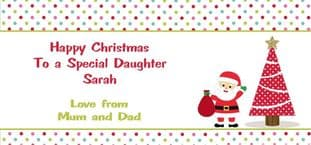 Personalised Christmas Gift Wallet for Money, Vouchers, Concert Tickets etc. Design 6