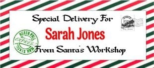 Personalised Christmas Gift Wallet for Money, Vouchers, Concert Tickets etc. Design 7