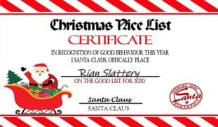 Personalised Christmas Good List Award Bar Wrapper