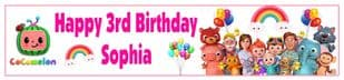 Personalised Cocomelon Banner BLUE OR PINK OPTION