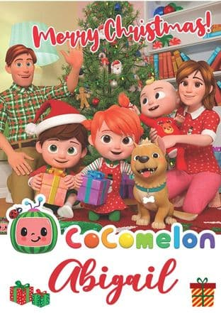 Personalised Cocomelon Christmas Card