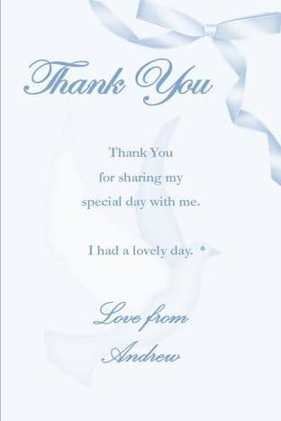 Personalised Confirmation Boy Thank You Cards Design 4