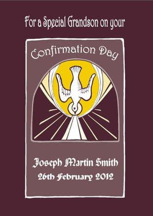 Personalised Confirmation Card Boy or Girl  Design 2