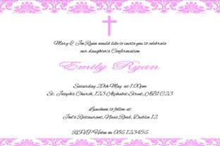 Personalised Confirmation Invitations Daughter Design 4