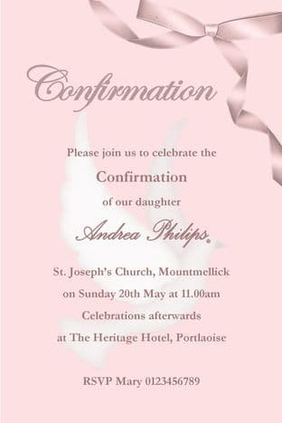 Personalised Confirmation Invitations Girl New Design 2