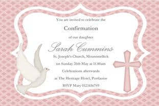 Personalised Confirmation Invitations Girl New Design 3