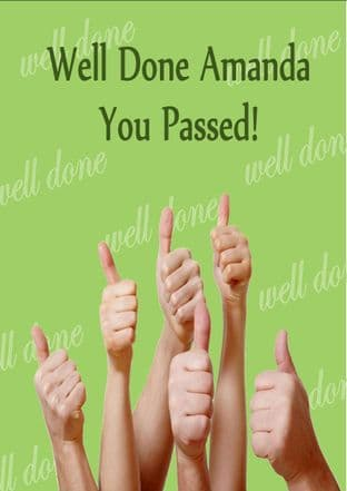 Personalised Congratulation on Passing Your Exams Card 3