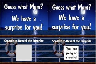 Personalised Cruise Holiday Reveal Scratch Card