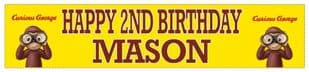 Personalised Curious George Banner