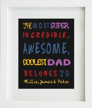 Personalised Dad / Daddy Print Design 1