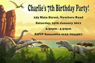 Personalised Dinosaur Theme Invitations Design 2