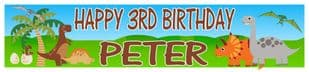 Personalised Dinosaurs Banner