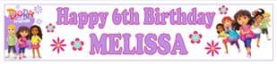 Personalised Dora and Friends Banner