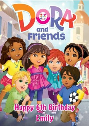 Personalised Dora and Friends Birthday Card