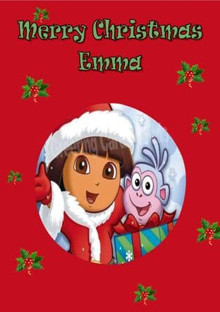 Personalised Dora the Explorer Christmas Card 1