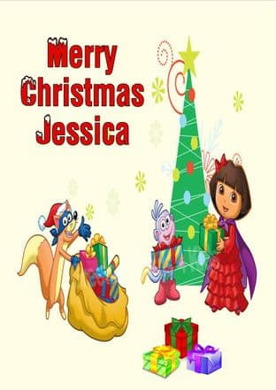 Personalised Dora the Explorer Christmas Card 2