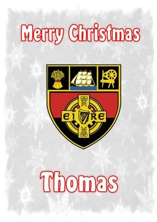 Personalised Down Crest Christmas Card