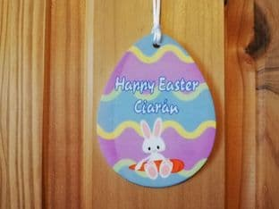 Personalised Easter Egg Hanging Ornament Design 2