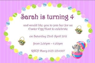 Personalised Easter Party or Egg Hunt Invitations 3
