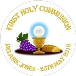 Personalised Edible Chalice Communion Cake Topper