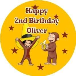 Personalised Edible Curious George Cake Topper