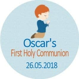 Personalised Edible Red Hair Boy Communion Cake Topper 1