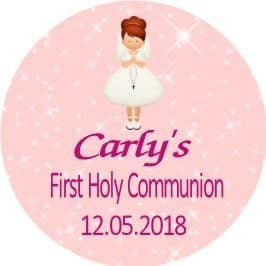 Personalised Edible Red Hair Girl Communion Cake Topper 1