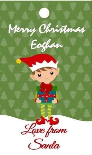 Personalised Elf Christmas Gift Tags