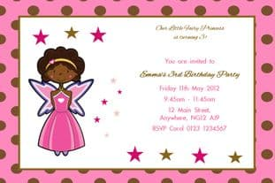 Personalised Fairy Polka Dot Invitations
