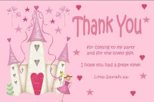 Personalised Fairy Theme Thank You Cards
