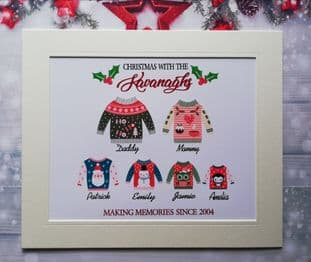 Personalised Family Christmas Jumper Print