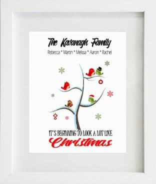 Personalised Family Tree Christmas Print