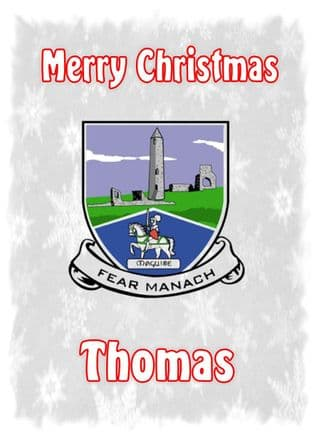 Personalised Fermanagh Crest Christmas Card