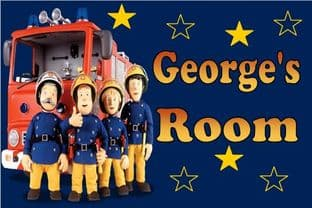 Personalised Fireman Sam Door Plaque Design 1